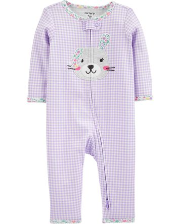 Bunny 2-Way Zip Cotton Footless Sle...