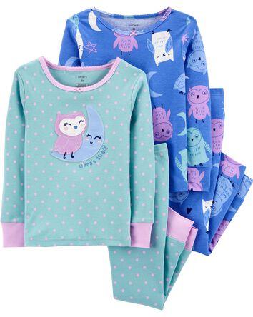 Pyjama 4 pièces en coton ajusté hib...
