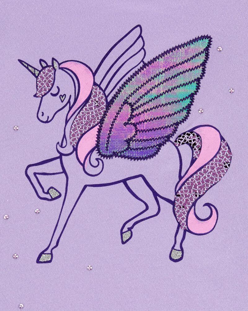 Flutter Sleeve Unicorn Tee, , hi-res