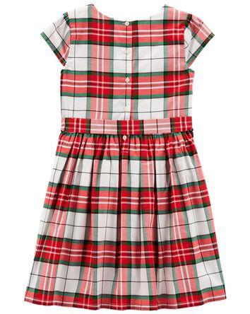 Plaid Sateen Holiday Dress