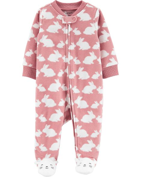 Bunny Zip-Up Fleece Sleep & Play