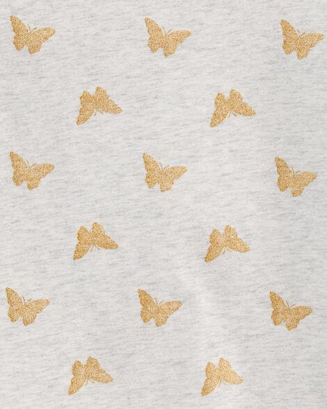 Glitter Butterfly Jersey Tee