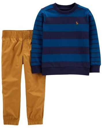 2-Piece French Terry Pullover & Pan...