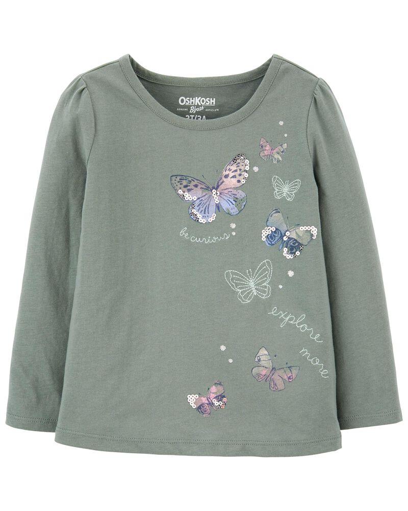 T-shirt à papillon scintillant, , hi-res