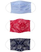 3-Pack Bandana Print Face Masks, , hi-res
