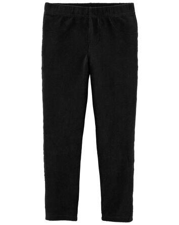 Pantalon à enfiler en velours