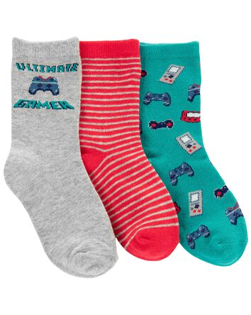3-Pack Gamer Crew Socks