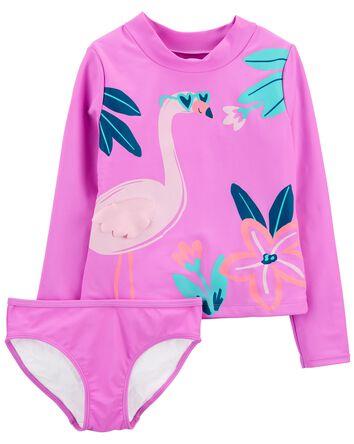 2-Piece Flamingo Rashguard