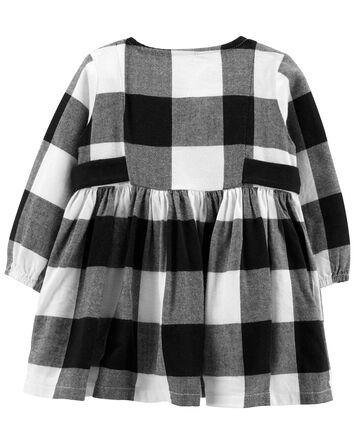 2-Piece Plaid Dress & Tights Set