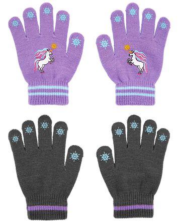 KOMBI 2-Pack Unicorn Mini Glove Set
