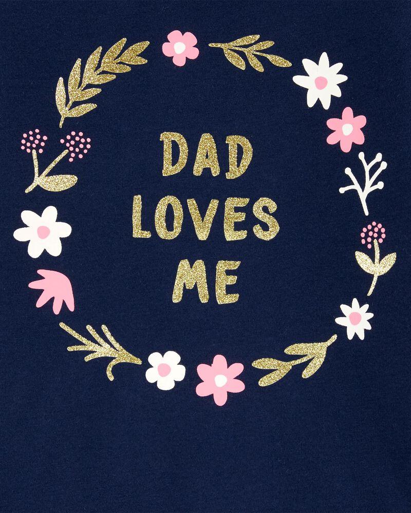 T-shirt en jersey Daddy Loves Me , , hi-res