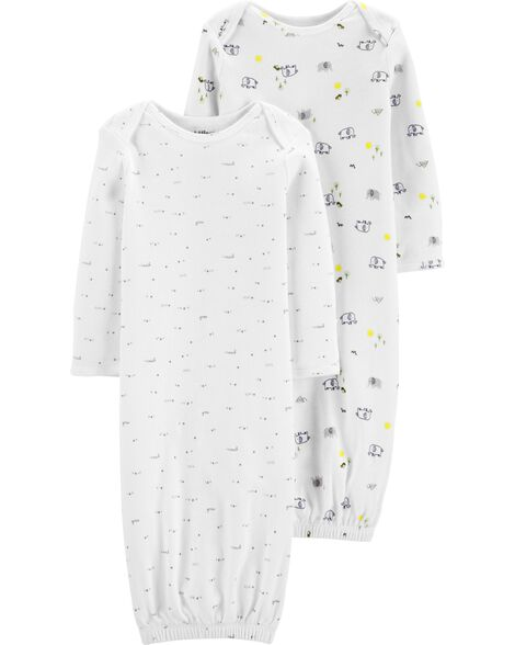 2-Pack Certified Organic Sleeper Gowns