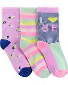 3 paires de chaussettes mi-mollet Love, , hi-res
