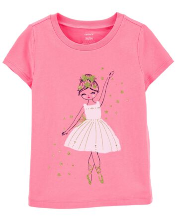 T-shirt en jersey ballerine scintil...