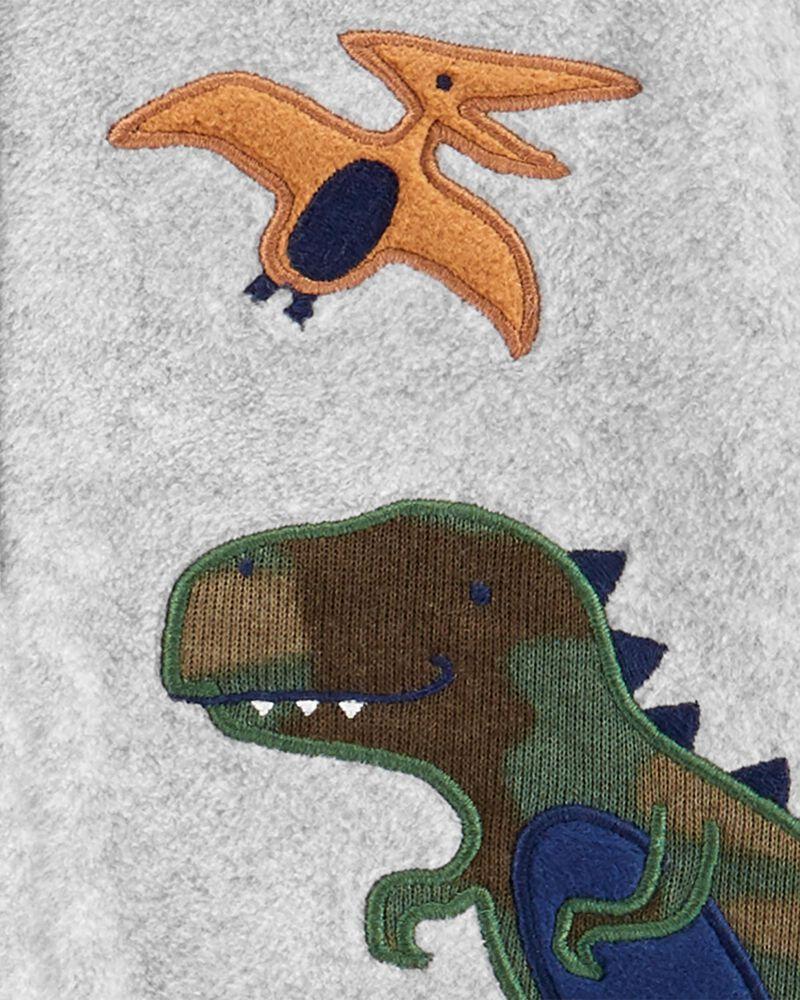 Dinosaur Zip-Up Fleece Sleep & Play, , hi-res