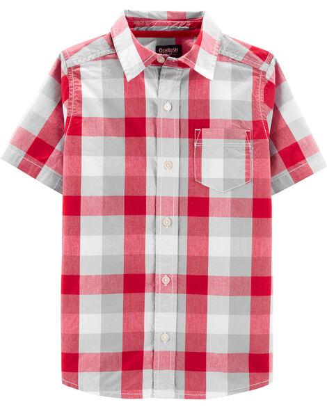 Chemise boutonnée à carreaux