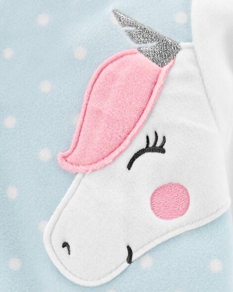 1-Piece Unicorn Fleece Footless PJs