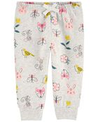 Pantalon en molleton fleuri, , hi-res