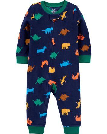 Pyjama 1 pièce à pieds en molleton...