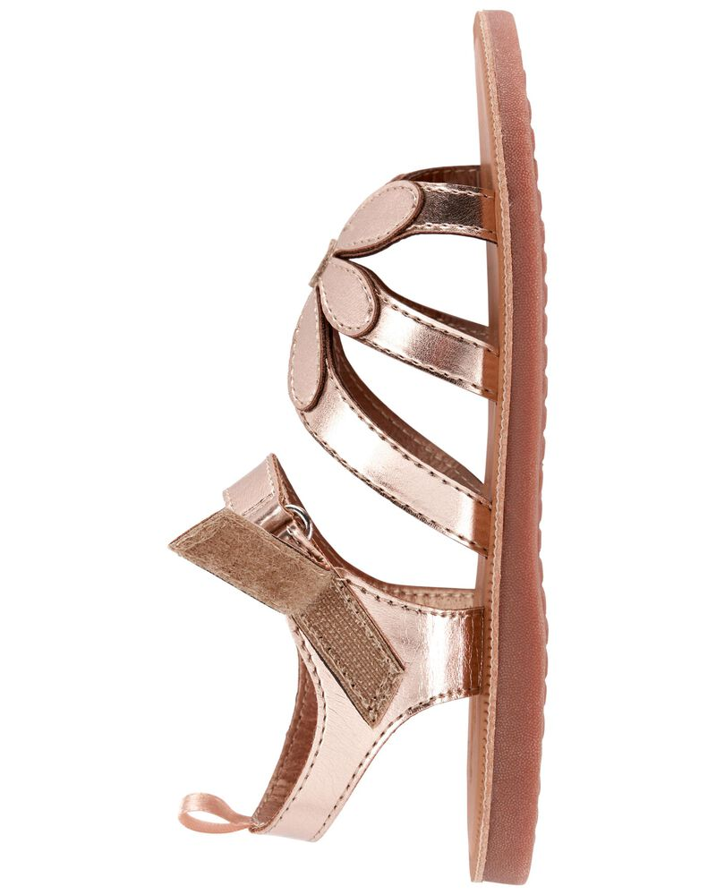 Rose Gold Flower Sandals, , hi-res