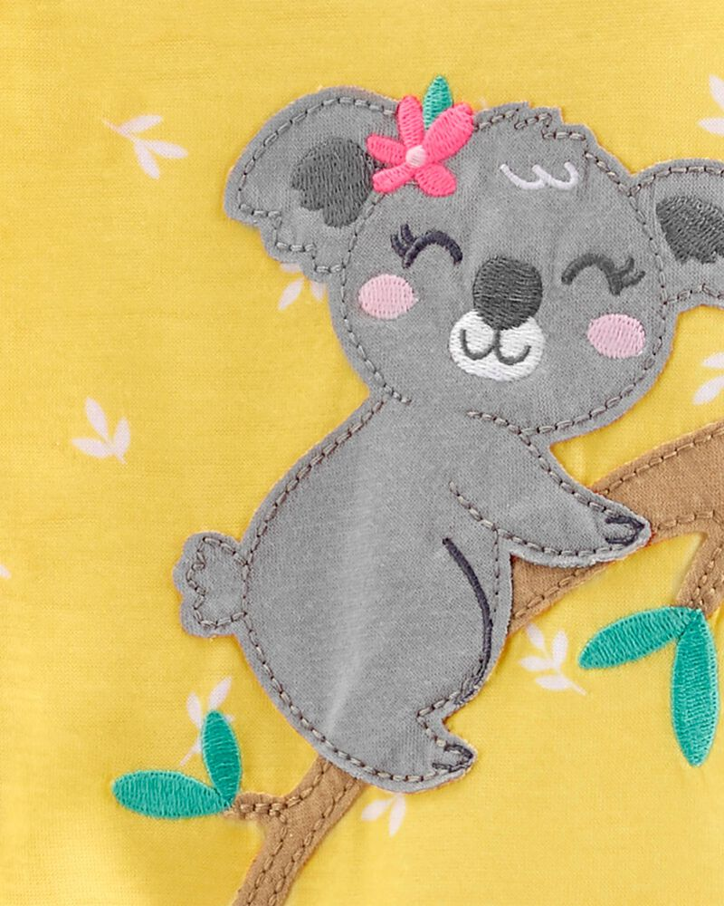 Pyjama 1 pièce de coupe ample à pieds motif koala, , hi-res