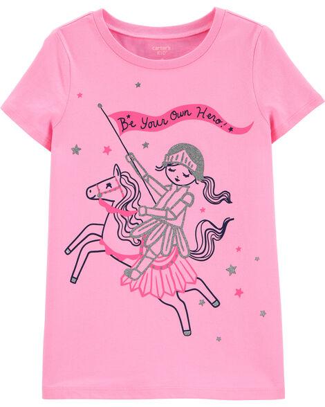 T-shirt en jersey Be Your Own Hero