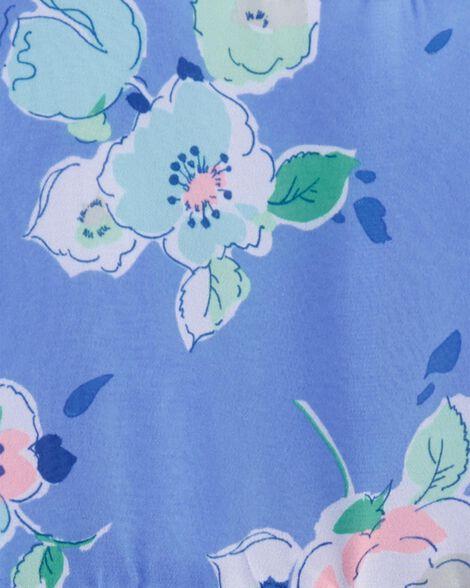 Robe en chiffon fleuri