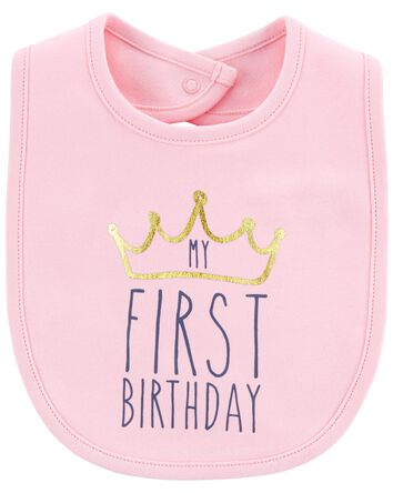 First Birthday Teething Bib