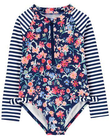 Floral Rashguard Swimsuit
