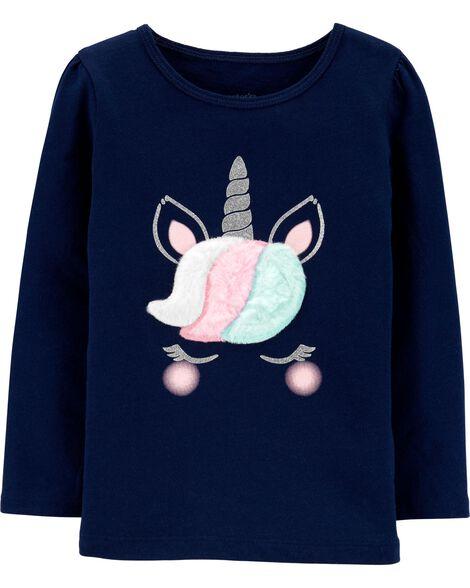 T-shirt en jersey à licorne scintillante