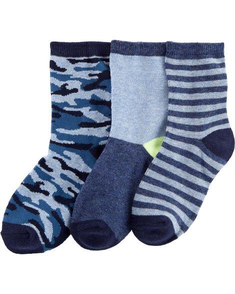 3 paires de chaussettes de marin camouflage