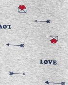 1-Piece Valentine's 100% Snug Fit Cotton Footless PJs, , hi-res