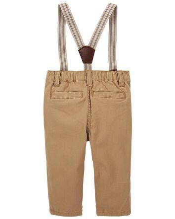 Pantalon extensible à bretelles