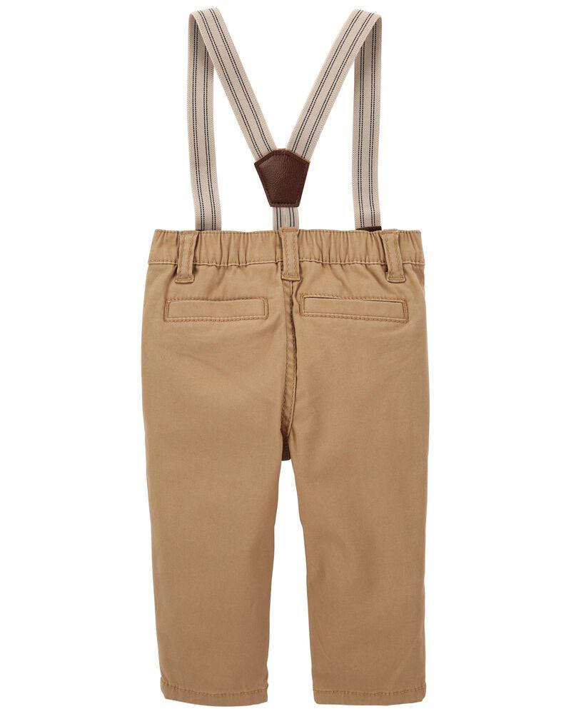Pantalon extensible à bretelles, , hi-res