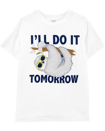 T-shirt en jersey à motif de paress...