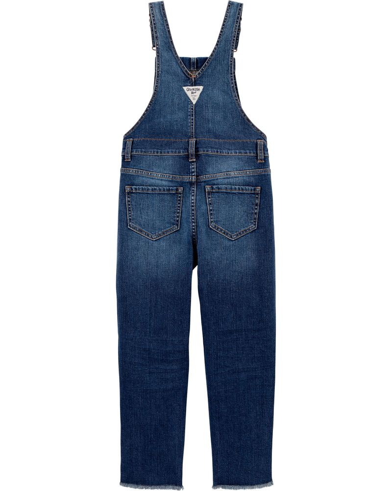 Skinny Fit Stretch Denim Overalls, , hi-res