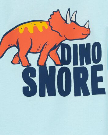 4-Piece Dino Snore 100% Snug Fit Co...