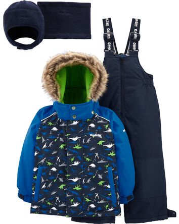 2-Piece Fleece-Lined Snowsuit With...