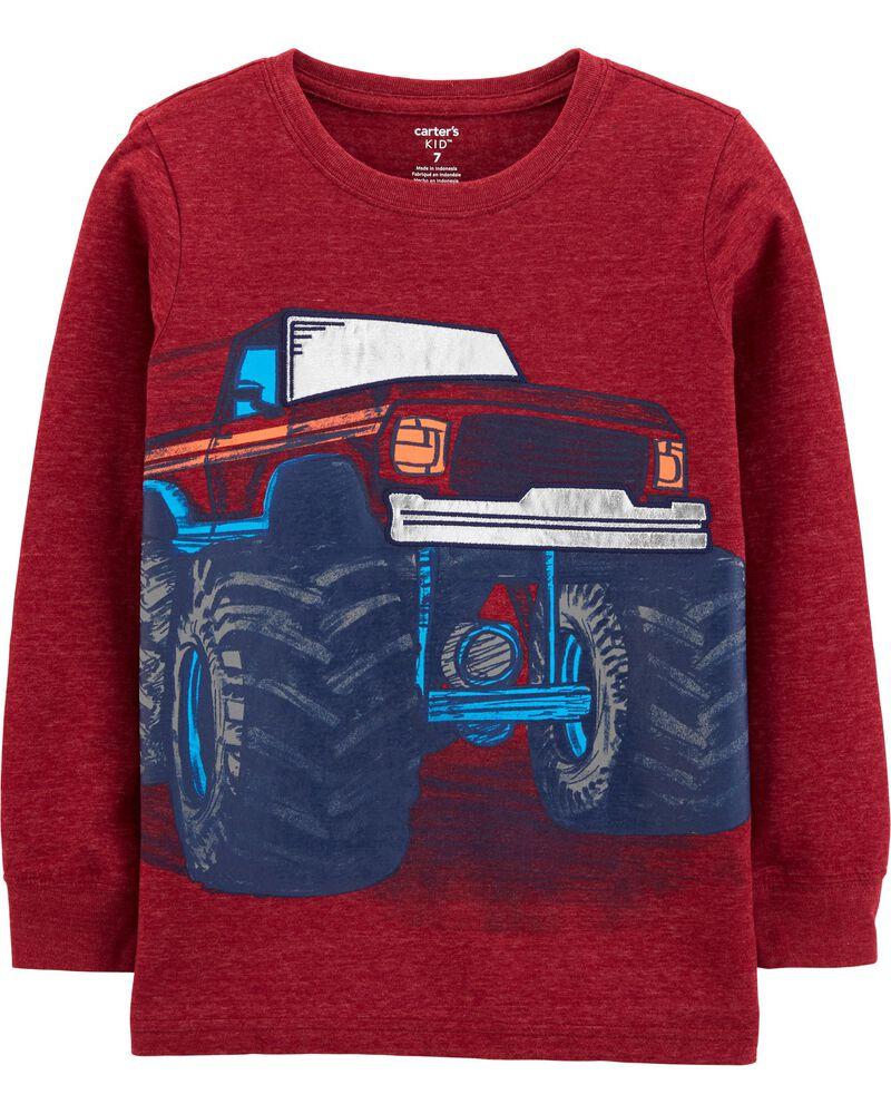 T-shirt en jersey chiné à camion monstre, , hi-res