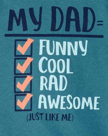 Dad Checklist Jersey Tee