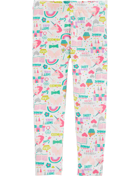 Legging à licorne Girl Power