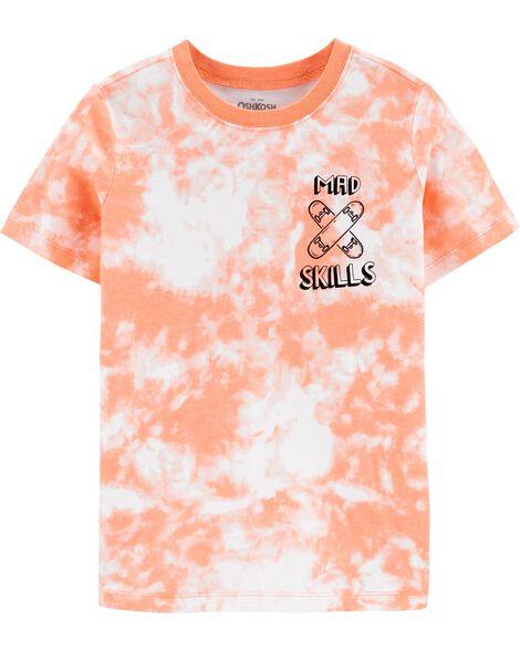 T-shirt teint en nœuds à requin