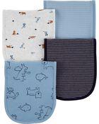 4-Pack Animals Burp Cloths, , hi-res