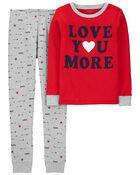 Pyjama 2 pièces en coton ajusté Saint-Valentin, , hi-res