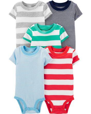 5-Pack Striped Original Bodysuits