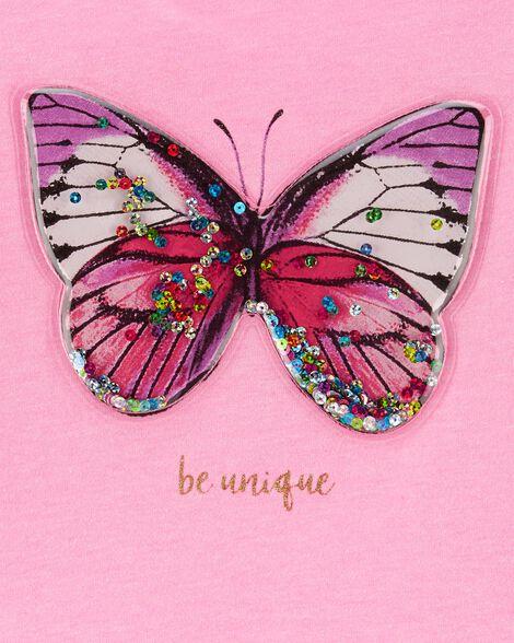 Neon Interactive Butterfly Peplum Top