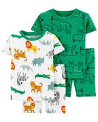 4-Piece Safari 100% Snug Fit Cotton PJs, , hi-res