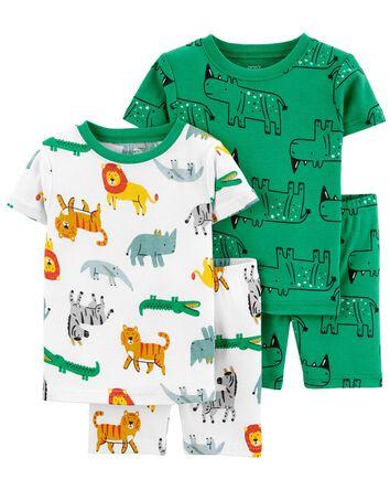 Pyjama 4 pièces en coton ajusté Saf...