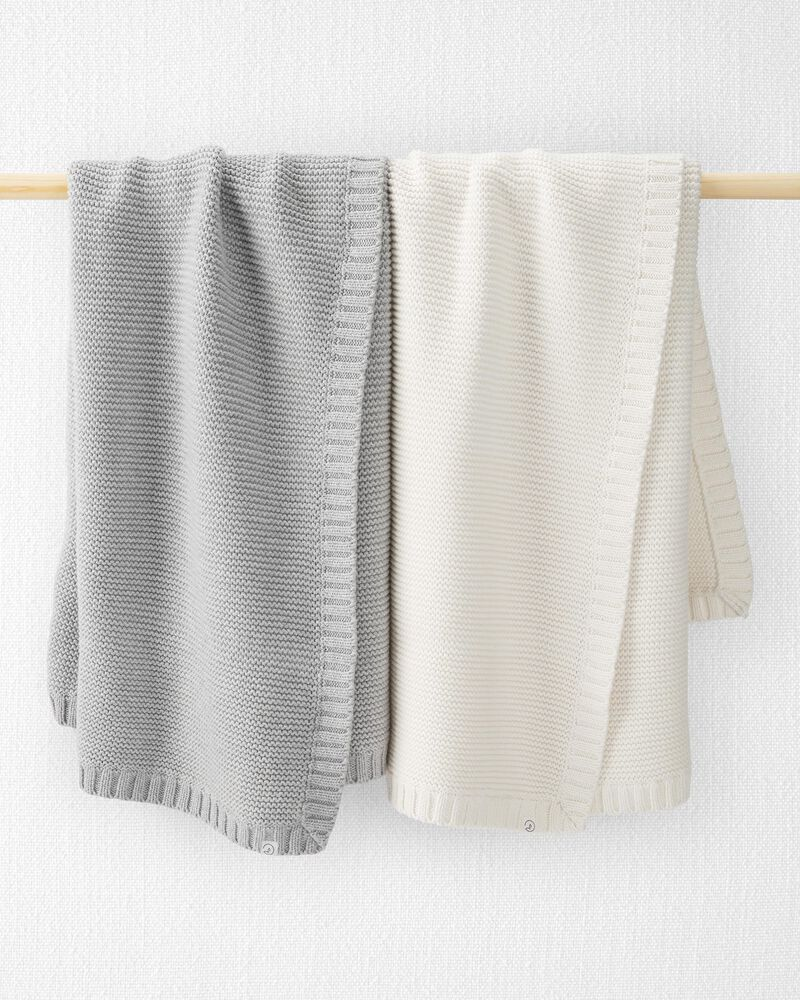 Organic Seed Stitch Blanket, , hi-res