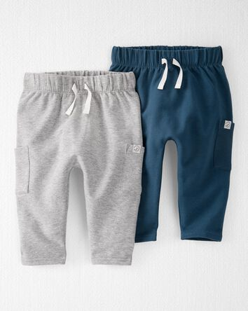 2-Pack Organic Cotton Terry Pants